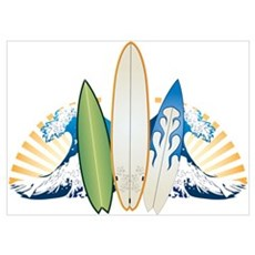 Surfboards Wall Art Poster