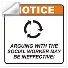 Social Worker / Argue Wall Art Wall Decal