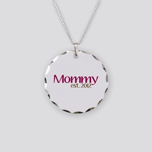 New Mommy 2012 Necklace Circle Charm