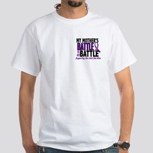 My Battle Too Pancreatic Cancer White T-Shirt