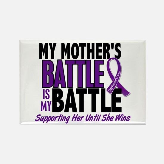 My Battle Too Pancreatic Cancer Rectangle Magnet