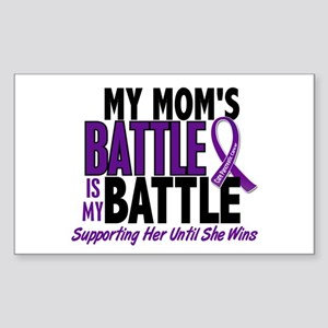 My Battle Too Pancreatic Cancer Sticker (Rectangle