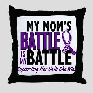 My Battle Too Pancreatic Cancer Throw Pillow