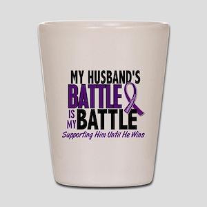 My Battle Too Pancreatic Cancer Shot Glass