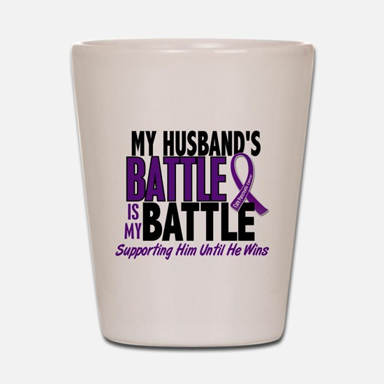 My Battle Too Pancreatic Cancer Shot Glass