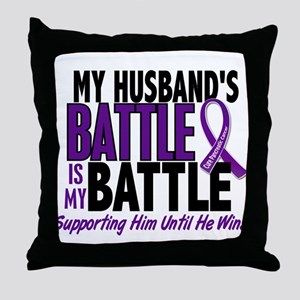 My Battle Too Pancreatic Cancer Throw Pillow