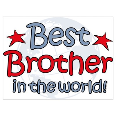 Best Brother Globe Wall Art Framed Print