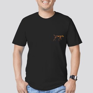 Men's Vizsla Dark Fitted T-Shirt (illustration)