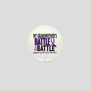 My Battle Too Pancreatic Cancer Mini Button