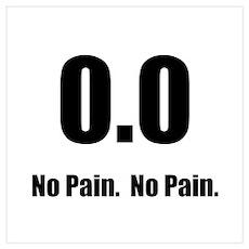 No Pain Wall Art Poster