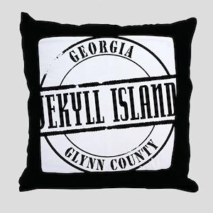 Jekyll Island Title Throw Pillow