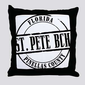St Pete Bch Title Throw Pillow