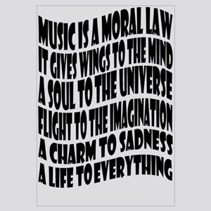 Music is a Moral Law Wall Art