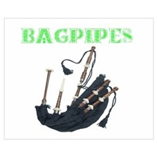 Bagpipes Wall Art Poster