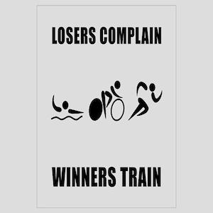 Triathlon Winners Train Wall Art