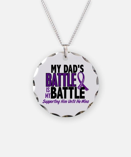 My Battle Too Pancreatic Cancer Necklace