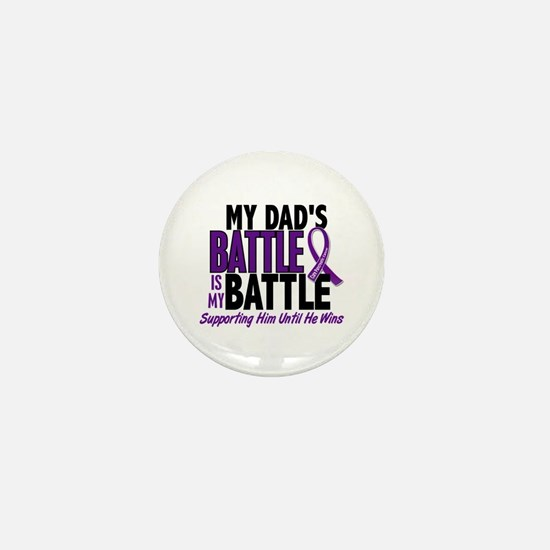 My Battle Too Pancreatic Cancer Mini Button