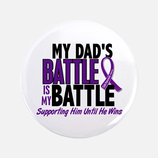 """My Battle Too Pancreatic Cancer 3.5"""" Button (100 p"""
