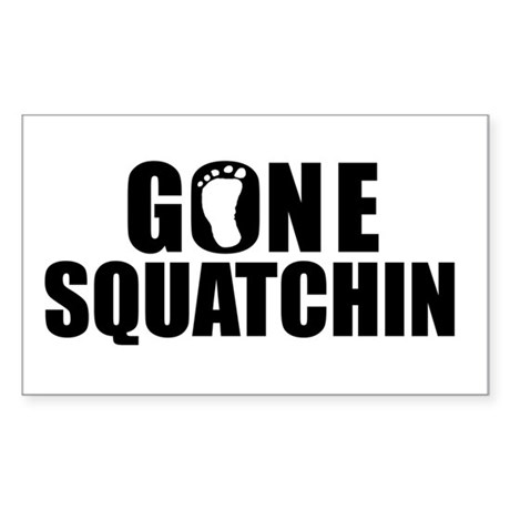 Gone Squatching Sticker (Rectangle)