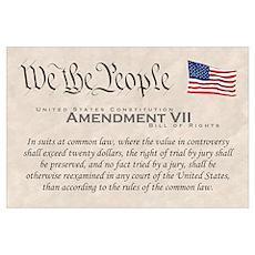 Amendment VII Wall Art Poster