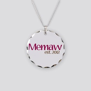 New Memaw 2012 Necklace Circle Charm