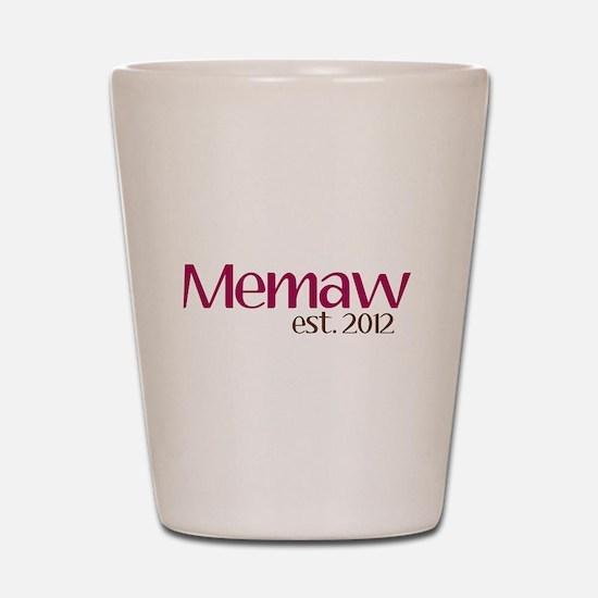 New Memaw 2012 Shot Glass