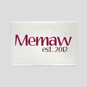 New Memaw 2012 Rectangle Magnet