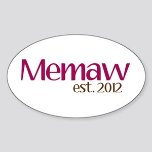 New Memaw 2012 Sticker (Oval)