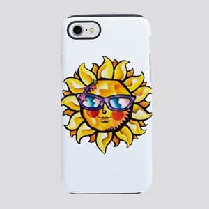 Colorful Tropical Sun with Sun iPhone 7 Tough Case