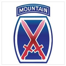 10th Mountain Division - Clim Wall Art Poster
