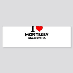 I Love Monterey, California Bumper Sticker