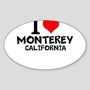 I Love Monterey, California Sticker