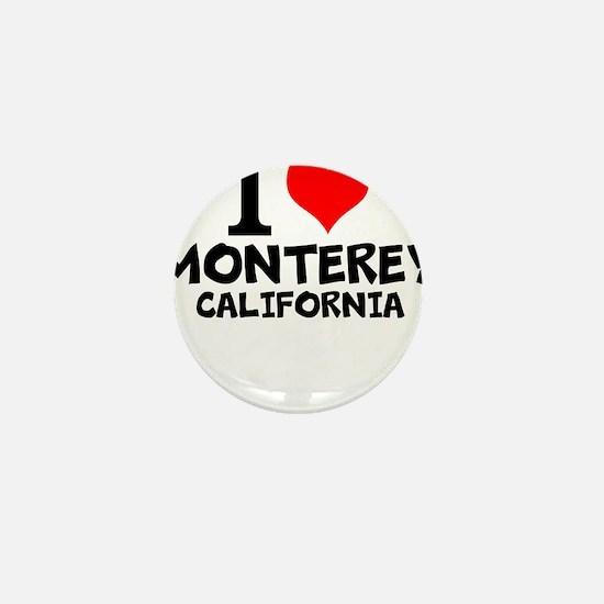 I Love Monterey, California Mini Button