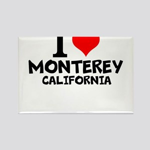 I Love Monterey, California Magnets