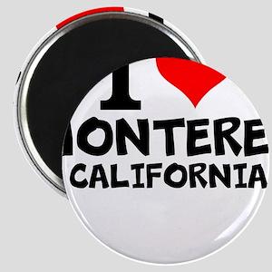 I Love Monterey, California Magnets