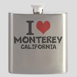 I Love Monterey, California Flask