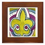 Generic Fleur De Lis 2012 Framed Tile
