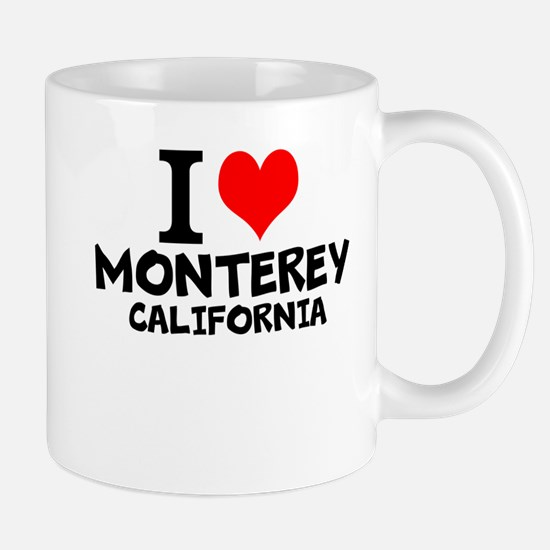 I Love Monterey, California Mugs