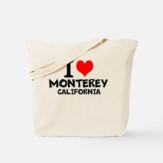 I Love Monterey, California Tote Bag