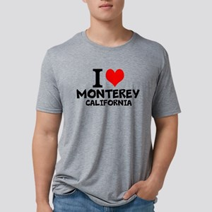 I Love Monterey, California Mens Tri-blend T-Shirt