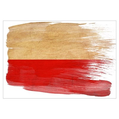 Poland Flag Wall Art Framed Print