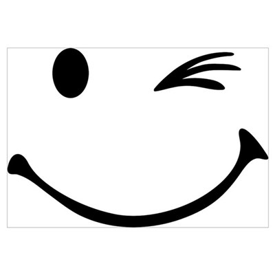 Smiley wink Wall Art Poster