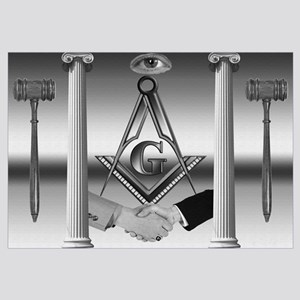 The Masonic Scene in Black and White Wall Art