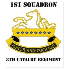 DUI -1st Sqdrn - 8th Cavalry Regt with Text Mini P Poster