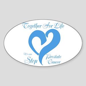 Stop Prostate Cancer Sticker (Oval)
