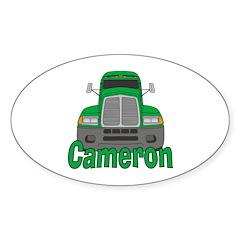 Trucker Cameron Sticker (Oval)