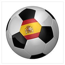 Spanish soccer ball Wall Art Poster
