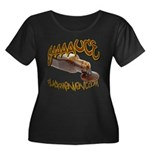SAAAUCE 1 Women's Plus Size Scoop Neck Dark T-Shir