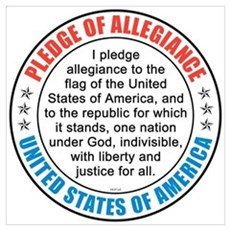 Pledge of Allegiance Wall Art Canvas Art