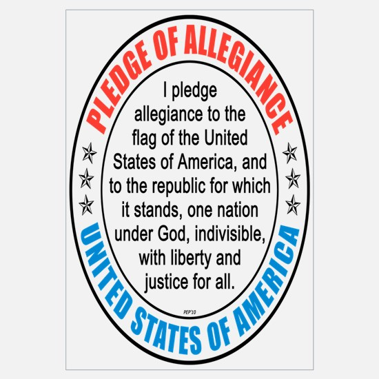 Pledge of Allegiance Wall Art